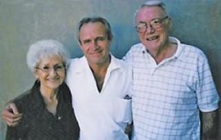 Michael Morton with his parents, Pat and Bill Morton