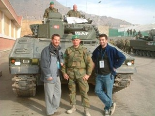 Dan Grant (right) in Afghanistan in 2003: Now aiming for DC in 2013