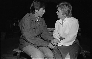 Steve Shearer and Scottie Wilkison in<i> The Trial of Juan Beltran</i>, Capitol City Playhouse, 1984