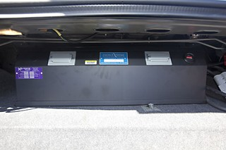 The battery backup units are installed in the trunks of squad cars.