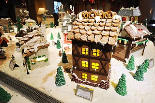 A gingerbread village at the Four Seasons