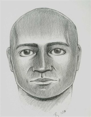 Sketch of suspect wanted in connection with attack early on Jan. 1