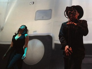 Puscifer's Carina Round and Maynard James Keenan (right)