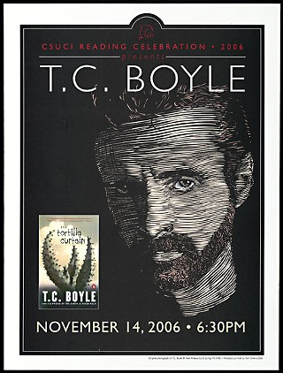 Promotional poster for a reading of <i>The Tortilla Curtain</i> by T.C. Boyle on Nov. 14, 2006