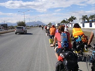 Bikes Across Borders members on the road in 2010