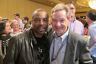 Keynote speaker LeVar Burton with SXSWedu Executive Director Ron Reed