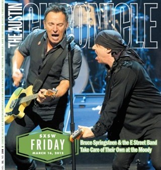 Bruce Springsteen and Steven Van Zandt on the cover of our second SXSW daily supplement, 3.16.2012