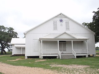 SPJST Hall No. 1: This is the first SPJST in Texas, located in Fayetteville, unadorned and basically looking like it did when it was built in 1897. SPJST stands for Slovanská Podporující Jednota Statu Texas, Czech for Slavonic Benevolent Order of the State of Texas.