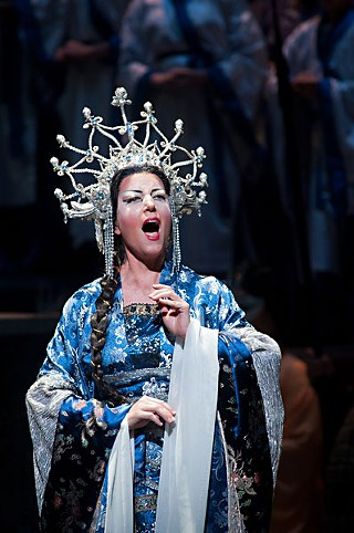 Icy reign: Lise Lindstrom as Turandot