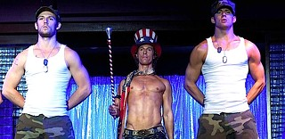 Yeah, you're gonna want to click on this: (from left) Alex Pettyfer, Matthew McConaughey, and Channing Tatum in Steven Soderbergh's 'Magic Mike'