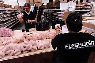 Fleshlight employees assemble product at the company's South Austin facility.