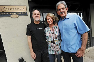 John Kunz (l), Peggy Weiss and Ron Weiss at Jeffrey's