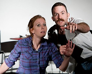 Sweet mercy, it's comedy sketches, hordes of them, coming this way!: Your Terrific Neighbors' Courtney Hopkin and Joel Osborne performing in the 2011 Sketch Fest