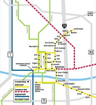 An earlier iteration of an Austin urban rail plan, also derailed