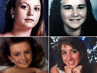 The four victims of the 1991 yogurt shop murders, clockwise from top left: Sarah Harbison, 15; Amy Ayers, 13; Eliza Thomas, 17; and Jennifer Harbison, 17.