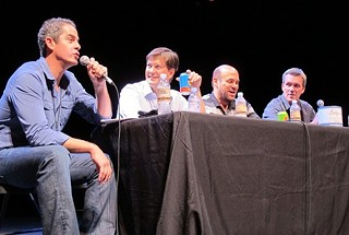 Ya gotta have friends: Robert Maschio, Bill Lawrence, Ian Gomez and Neil Flynn at the inaugural ATX Television Festival
