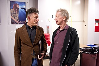 Lyle Lovett (l) and Terry Lickona
