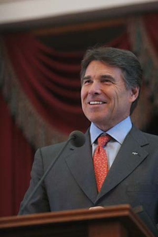Rick Perry: Rejects health care exchanges, rejects $13 billion in Federal Medicaid funds, but seemingly quite happy with a quarter of all Texans being uninsured