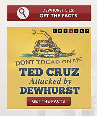 The GOP primary battle has grown increasingly vicious, as this ad from Cruz's website shows.