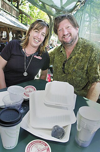 Susan and Michael Parker of Opal Divine's; their new restaurant opens Aug. 9 in Davenport Village.