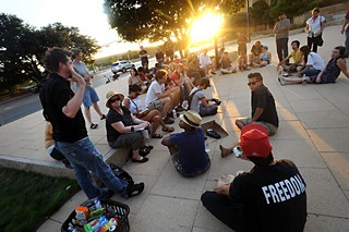 Occupy Austin holds a general assembly meeting Monday, Sept. 3 – its first gathering since last week's news that the Austin Police had surreptitiously embedded officers into the group.