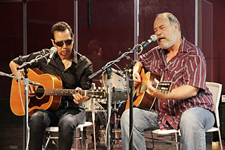 Rebel kind: True Believers Alejandro Escovedo and Jon Dee Graham live on KUT last week promoting GrulkeFest John Prine