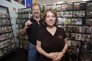 Tim and Stacey Hensley at their Gamerz Galaxy store
