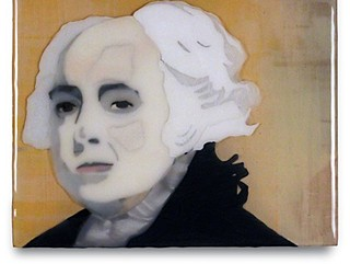 From the art show Presidential Losers, running in tandem with <i>44 Plays for 44 Presidents</i>, <i>John Adams</i> by Kent Michael Smith