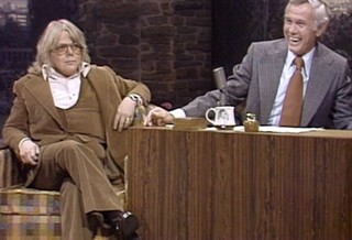 Paul Williams (left) with Johnny Carson