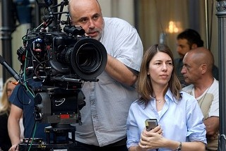 Harris Savides on the set of Sofia Coppola's 2011 film 'Somewhere'