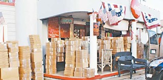 Pie to the rescue: 650 pies awaiting transport to the East Coast at Royers Round Top Cafe