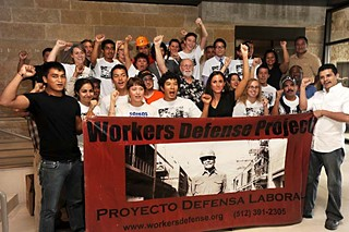 The Workers Defense Project rallied at City Hall on Sept. 12.