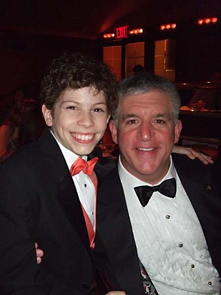 Tony night! David with fellow cast member and Best Supporting Actor nominee Gregory Jbarr, who won the award