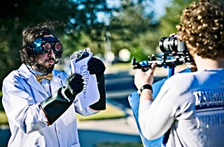 Director of photography Joshua Jones captures Chris Baldenhofer's Mad Scientist for Paperboy.