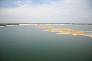 Lake Travis islands created by drought