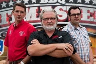 BBQ Pitmasters judges Tuffy Stone, Myron Mixon, and Aaron Franklin
