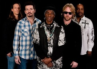 Band of brothers: Charlie Wooton, Mike Zito, Cyril Neville, Devon Allman, and Yonrico Scott
