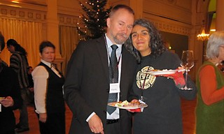Claudia Alarcón and Dr. Harri Kettunen, organizer of the 17th annual European Mayan Conference in Helsinki