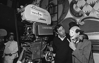 Jerry Lewis on set