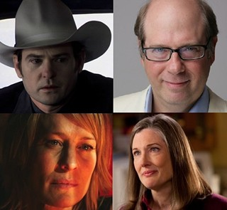 Four tickets for the Texas Film Hall of Fame, please! Clockwise from top left: Henry Thomas as Hank Williams in 'The Last Ride'; Beloved character Stephen Tobolowsky; Annette O'Toole in 'Smallville'; And Robin Wright in 'Rampart'