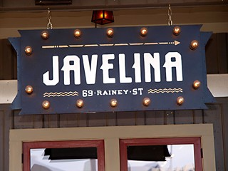 If you think Javelina is just another bar, then you should try it on Valentine's Day. More to come.