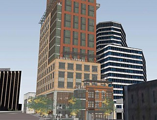 A rendering of the proposed project for Eighth & Congress