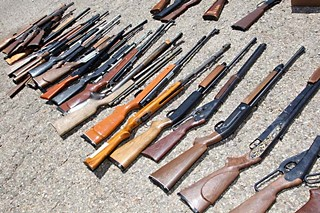 For reference, this is a photo of 30-odd guns. The United States has almost three times this many per 100 people.