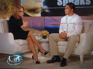 Manti looked uncomfortable when Katie asked him to list his favorite divas