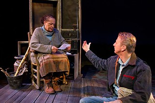 Franchelle Stewart Dorn as Nell Hicks and Robert Schleifer as Tuc in <i>The Edge of Peace</i>