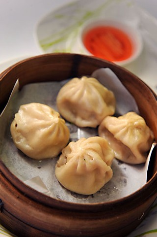 Soup dumplings at Ivy's Deli