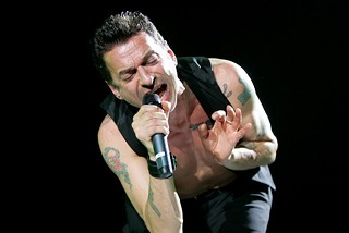 Depeche Mode's Dave Gahan in San Antonio, 2005
