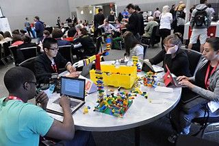 The Maker Faire kept people entertained and occupied at this week's SXSWedu conference.
