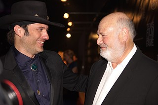 Two powerhouses of filmmaking at the Texas Film Hall of Fame awards, the Robs – (l-r) Robert Rodriguez and Rob Reiner