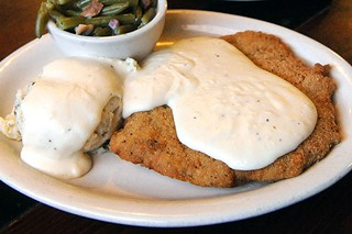 Chicken-Fried Steak at Hill's Cafe
